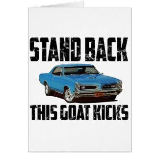 Cartão Pontiac 1966 GTO está para trás
