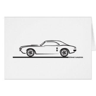 Cartão Pontiac Firebird 1968