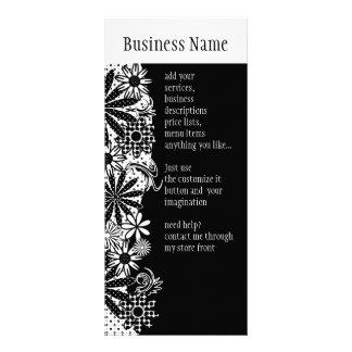 Cartão pontilhado preto e branco da cremalheira da 10.16 x 22.86cm panfleto