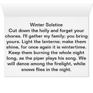 Cartão Ponto de entrada do solstício de inverno,