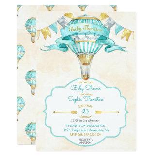 Cartão Ponto morto do género do ouro de turquesa do balão