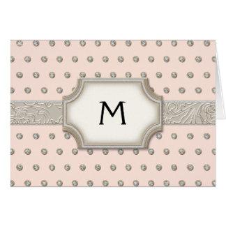 Cartão Pontos de prata da jóia de Champagne do quadro do