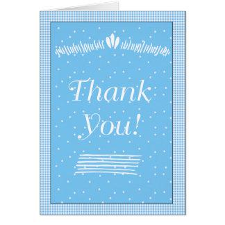 Cartão Pontos e obrigado que azuis do guingão você nota