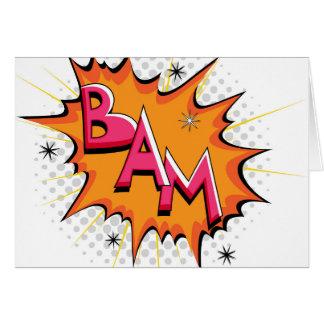 Cartão Pop art Bam cómico!