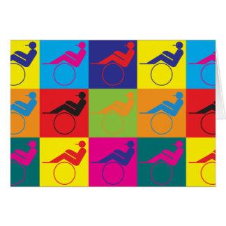 Cartão Pop art da competência de chicote de fios