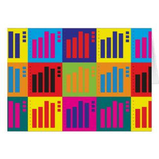 Cartão Pop art das estatísticas