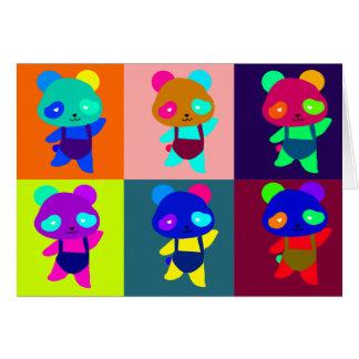 Cartão pop art de Marilyn da panda