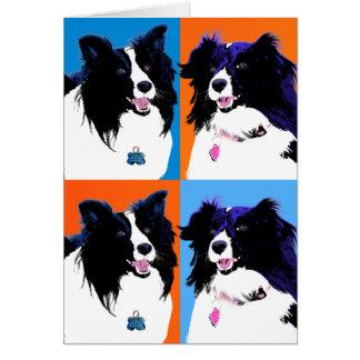 Cartão Pop art de Shelties