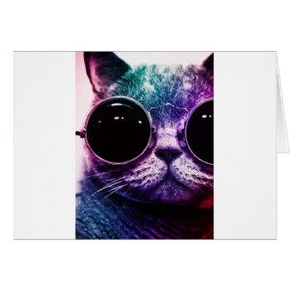 Cartão Pop art do gato do hipster