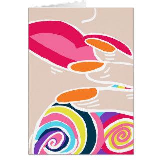 Cartão Pop art moderno original do Fauvism do interior do