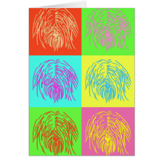 Cartão Pop art Terrier tibetano