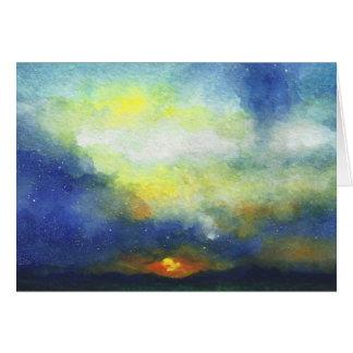 Cartão Por do sol