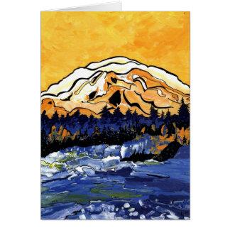 Cartão Por do sol amarelo