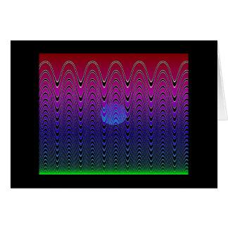 Cartão Por do sol azul #7 do pixel (cartão)
