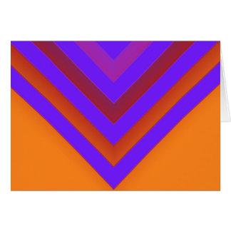 Cartão Por do sol Chevron