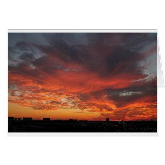 Cartão Por do sol colorido