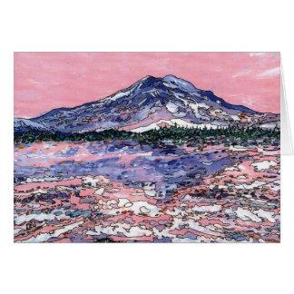 Cartão Por do sol cor-de-rosa