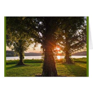 Cartão Por do sol culminante da glória