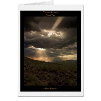 Cartão Por do sol da arizona de Tucson