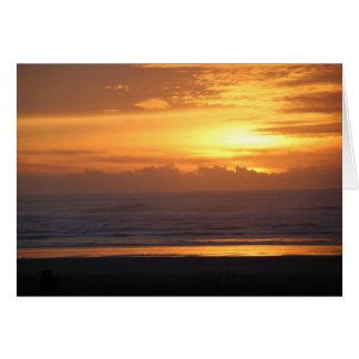 Cartão Por do sol da Costa do Pacífico (vazio para