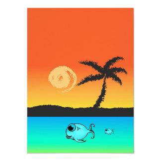 Cartão Por do sol da ilha