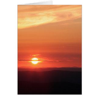 Cartão Por do sol da montanha no Shenandoah