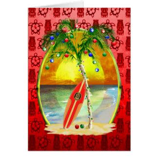 Cartão Por do sol da praia do Natal