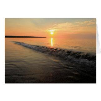 Cartão Por do sol das ilhas do apóstolo no Lago Superior
