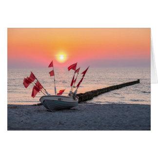 Cartão Por do sol de Ahrenshoop