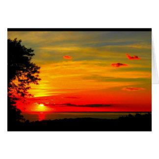 Cartão Por do sol de América dos deus abençoe