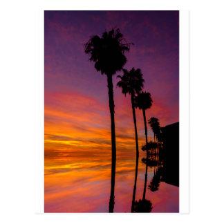 Cartão por do sol de Carlsbad, Califórnia