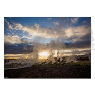 Cartão Por do sol de Islândia