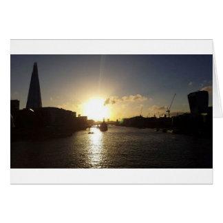 Cartão Por do sol de Londres