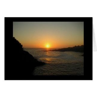 Cartão Por do sol de Mendocino