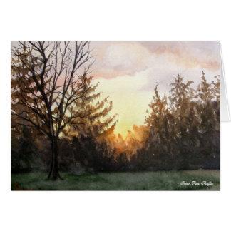 Cartão Por do sol de minha janela do estúdio