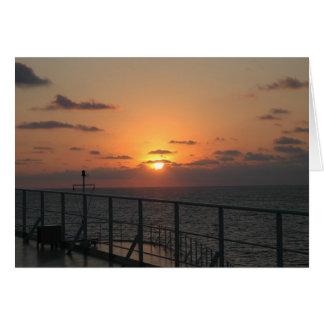 Cartão Por do sol de Queen Mary 2