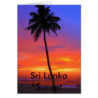 Cartão Por do sol de Sri Lanka