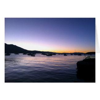 Cartão Por do sol de Tahoe