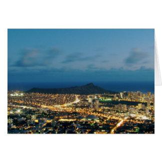 Cartão Por do sol de Waikiki