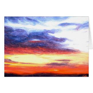 Cartão Por do sol dezembro de 2006