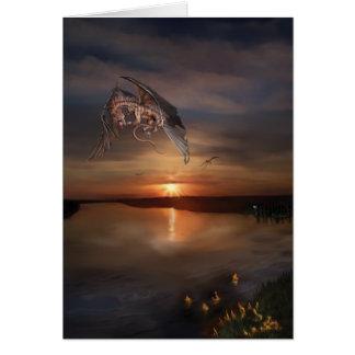 Cartão Por do sol do dragão