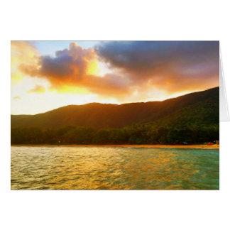 Cartão Por do sol do molhe da angra da palma