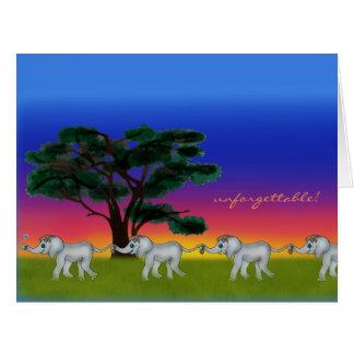 Cartão Por do sol do savana pelos Feliz Juul Empresa