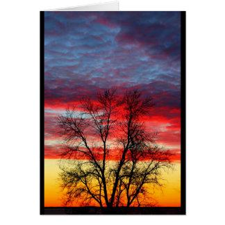 Cartão Por do sol do Winnebago do lago que assemelha-se à