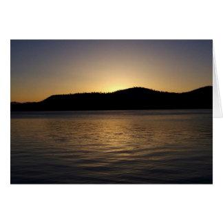 Cartão Por do sol dourado