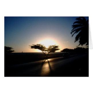 Cartão Por do sol em Aruba