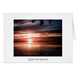 Cartão Por do sol em James River