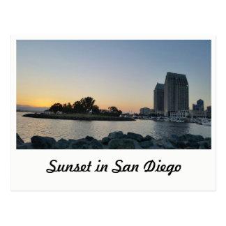 Cartão - por do sol em San Diego