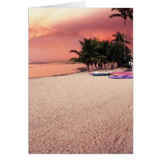 Cartão por do sol gambiano
