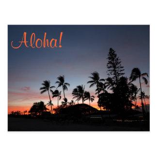 Cartão - por do sol havaiano
